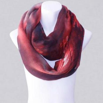 2014-Fall/Winter-New Style Scarf-Women's Scarf-Vintage Scarf-Bohemia Scarf-Feather Scarf-Floral Unique-Cotton Scarf-Red