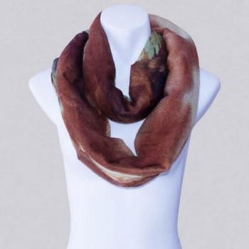 2014-Fall/Winter-New Style Scarf-Women's Scarf-Vintage Scarf-Bohemia Scarf-Feather Scarf-Floral Unique-Cotton Scarf-Brown